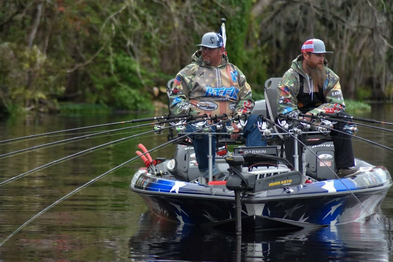 U.S. Army veteran Derrick Brooks of 22 Fishing team